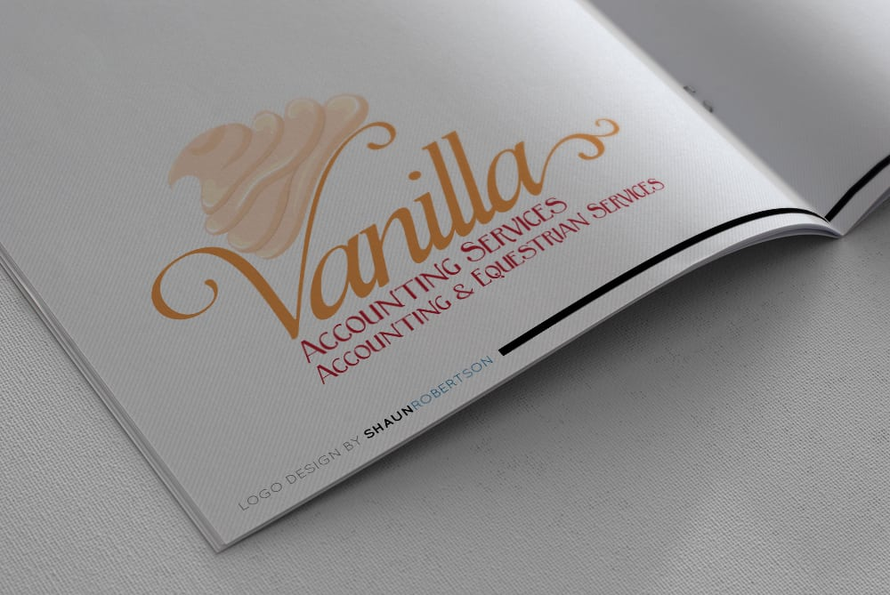 Vanilla Accounting Logo Design by Shaun Robertson