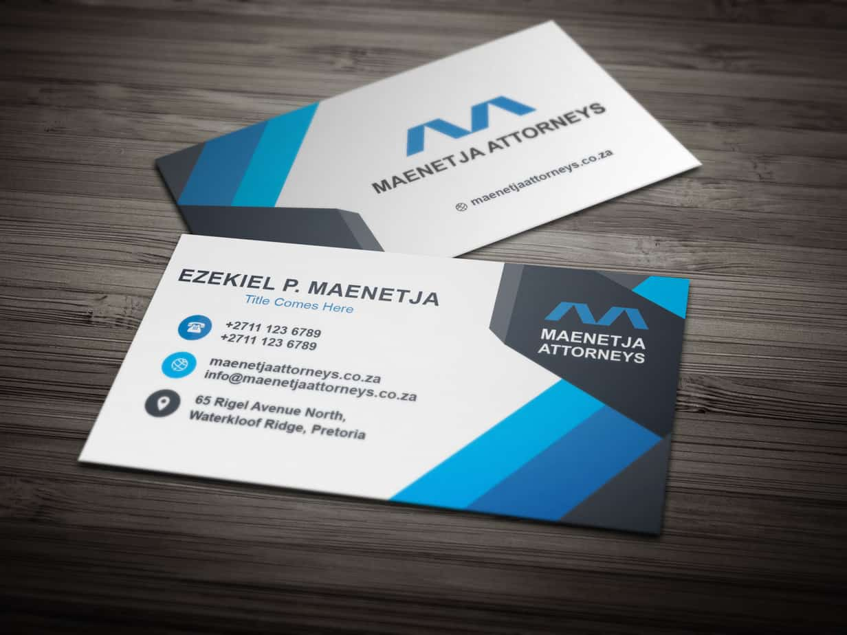 Maenetja Attorneys Business Card Design – SSR Designs