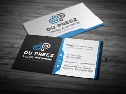 du Preez Legacy Accounting Business Card Design by SSR Designs