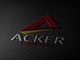 Acker Car Rentals Logo Design by SSR Designs